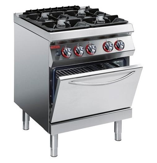 Bếp âu 4 bếp có lò nướng ANGELO PO 1G0FA0