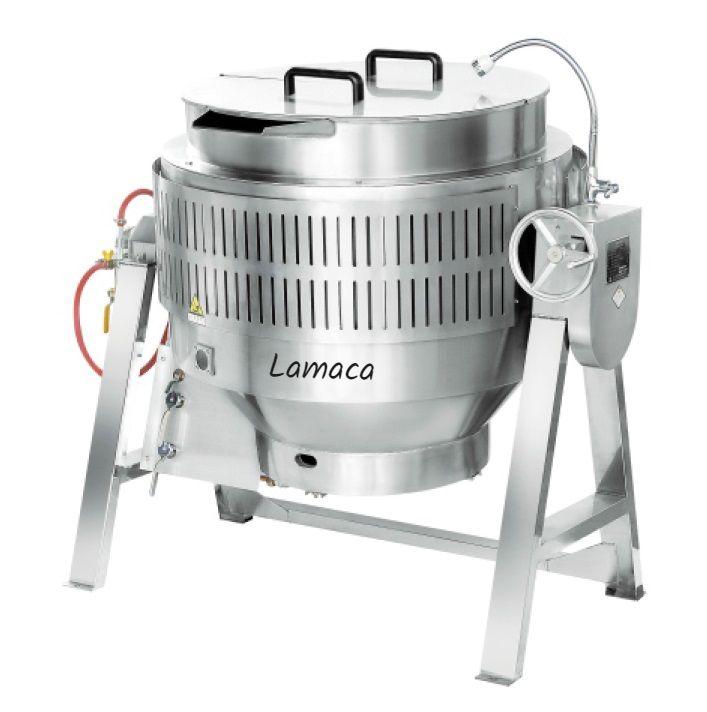 Chảo nghiêng tay quay Lamaca 300L